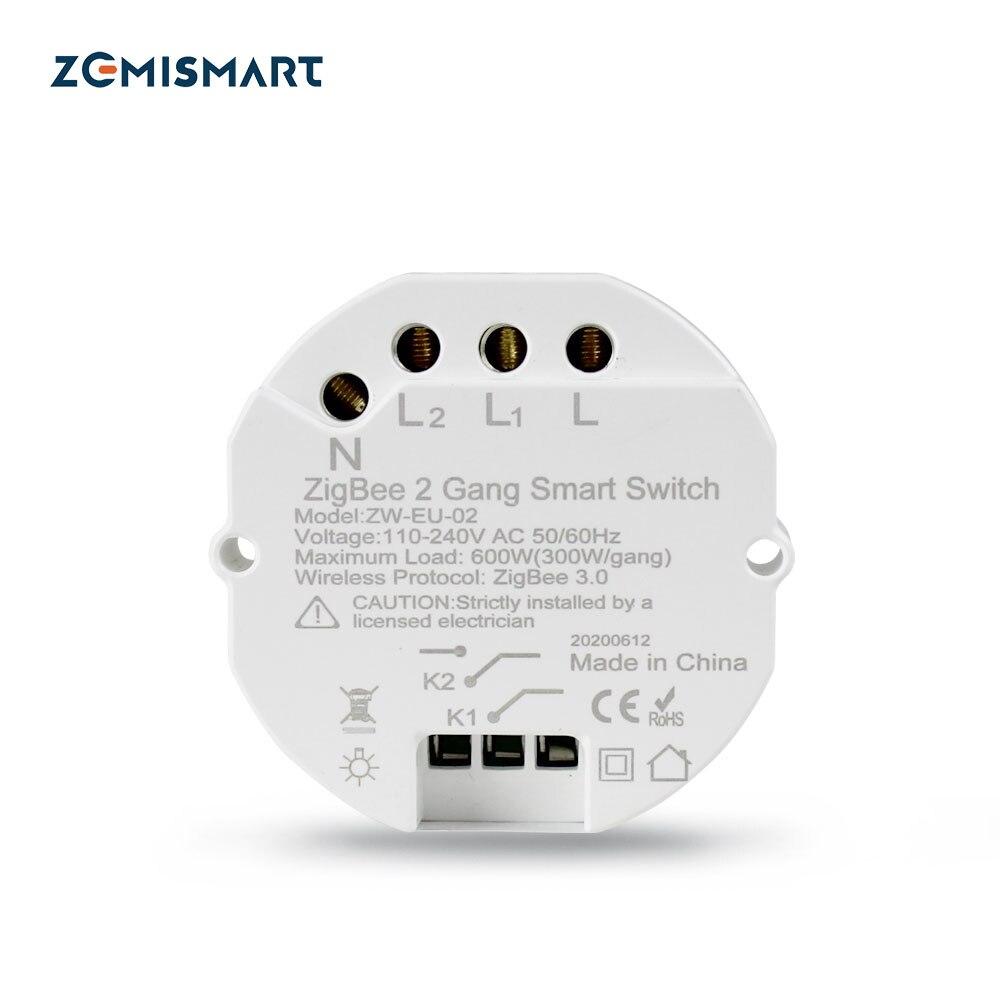 Zigbee 3.0 WiFi Switch DIY Smart Light Mini Breaker Module SmartThings Wink Tuya Remote Control Alexa Echo Google Home 1/2 Way